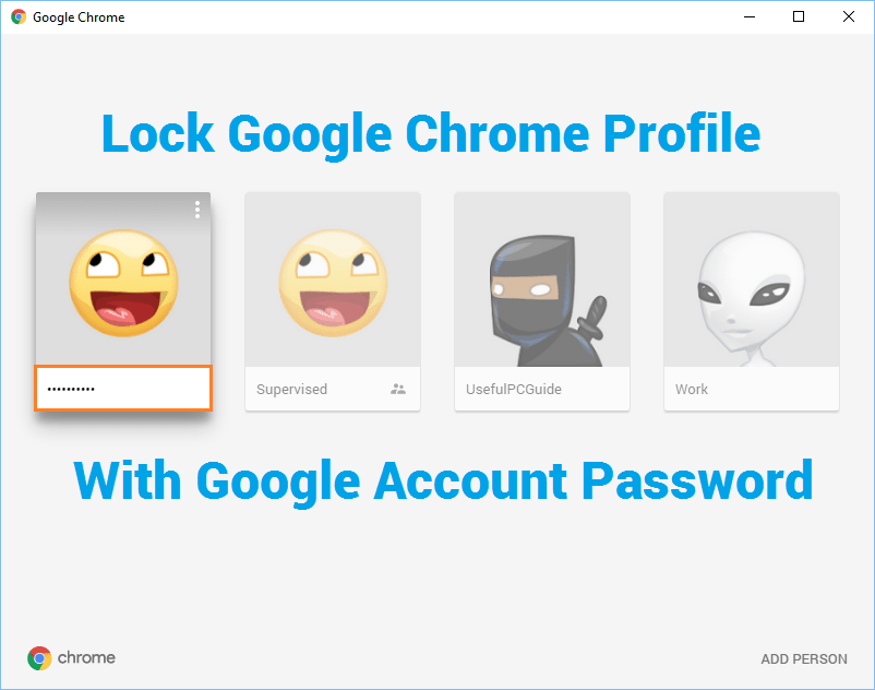 Create a Supervised Chrome Profile