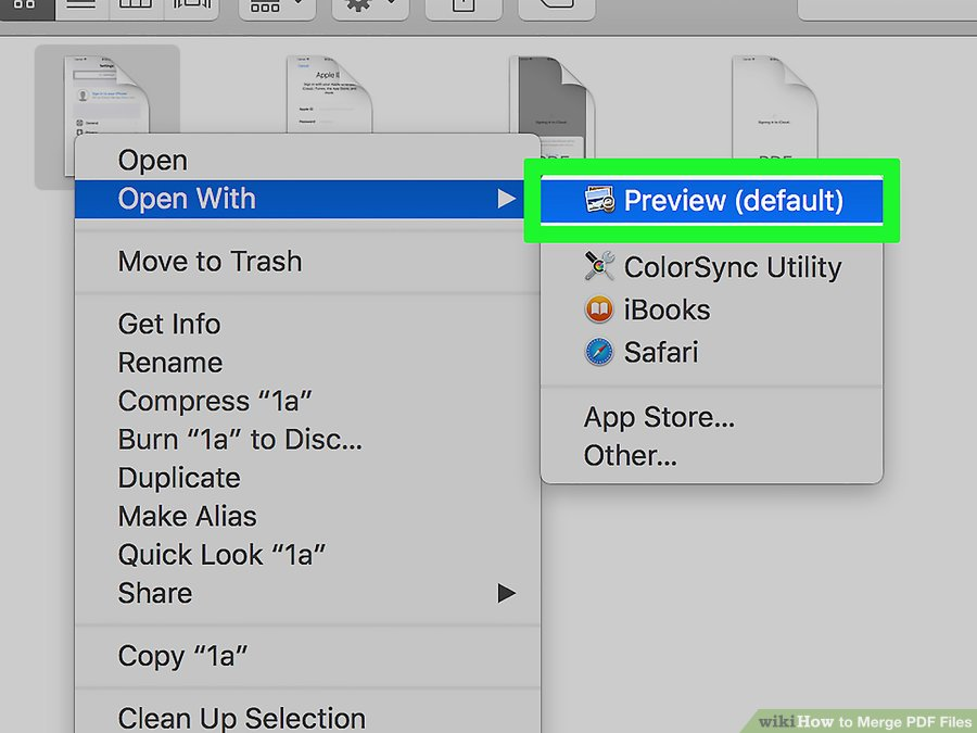 How to Combine PDF Files By Using MAC step 3