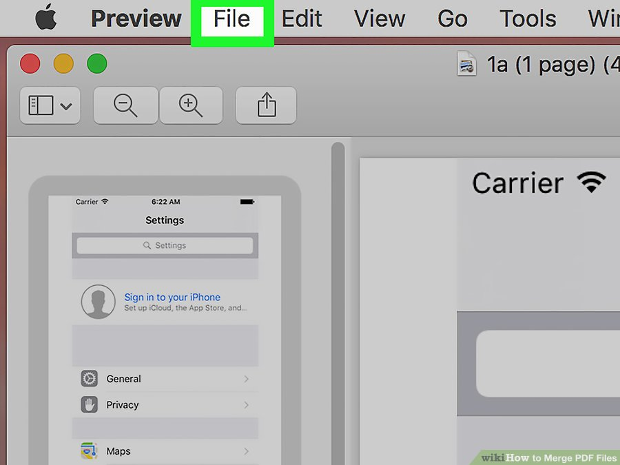 How to Combine PDF Files By Using MAC step 8