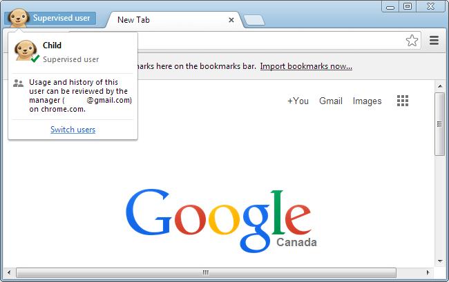 Make a Supervised Chrome Profile