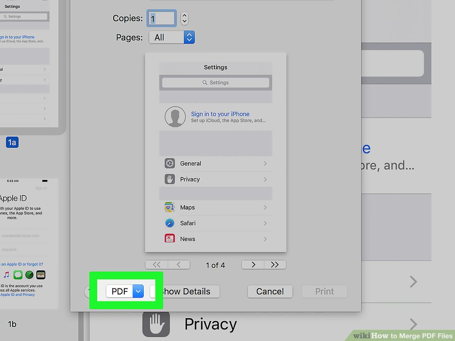 How to Combine PDF Files By Using MAC step 10.0