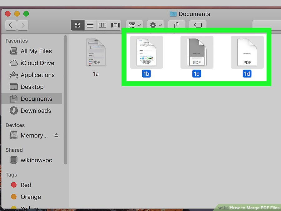 How to Combine PDF Files By Using MAC step 6