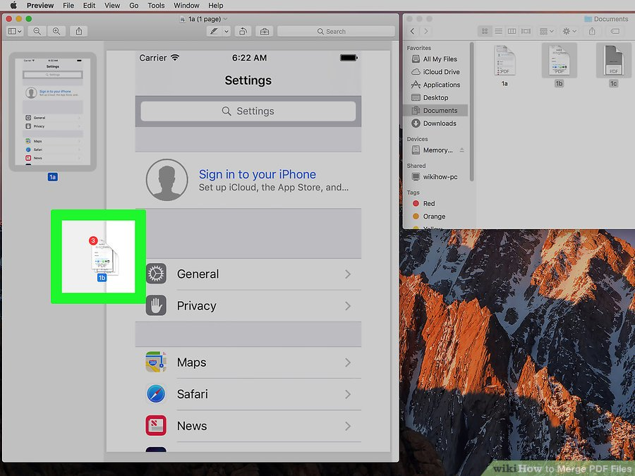 How to Combine PDF Files By Using MAC step 7