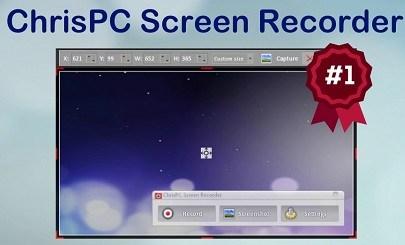 ChrisPC Screen Recorder 2018 1.60 Free Download